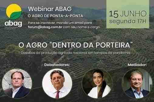 2º Webinar ABAG: O Agro de ponta-a-ponta