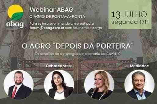 """3º Webinar ABAG: O Agro """"Depois da Porteira"""""""