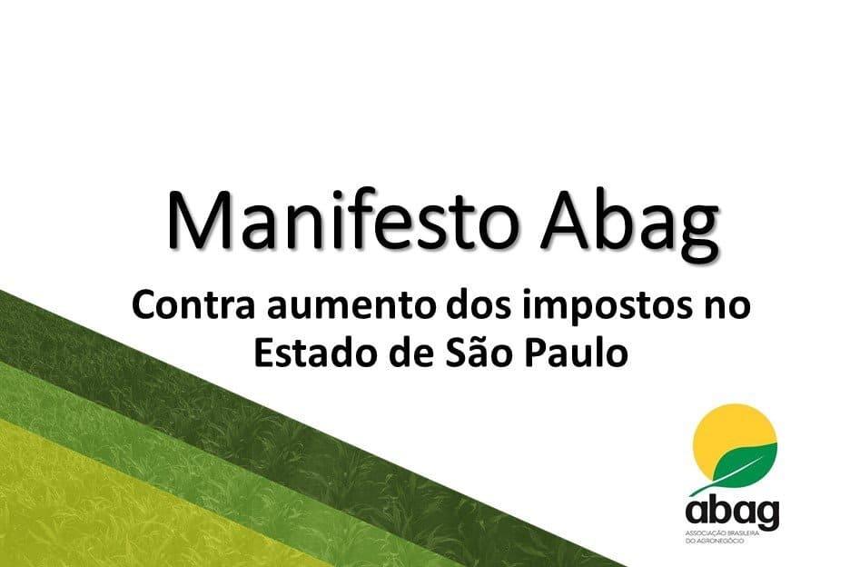 Manifesto ABAG – Contra aumento dos impostos no Estado de São Paulo