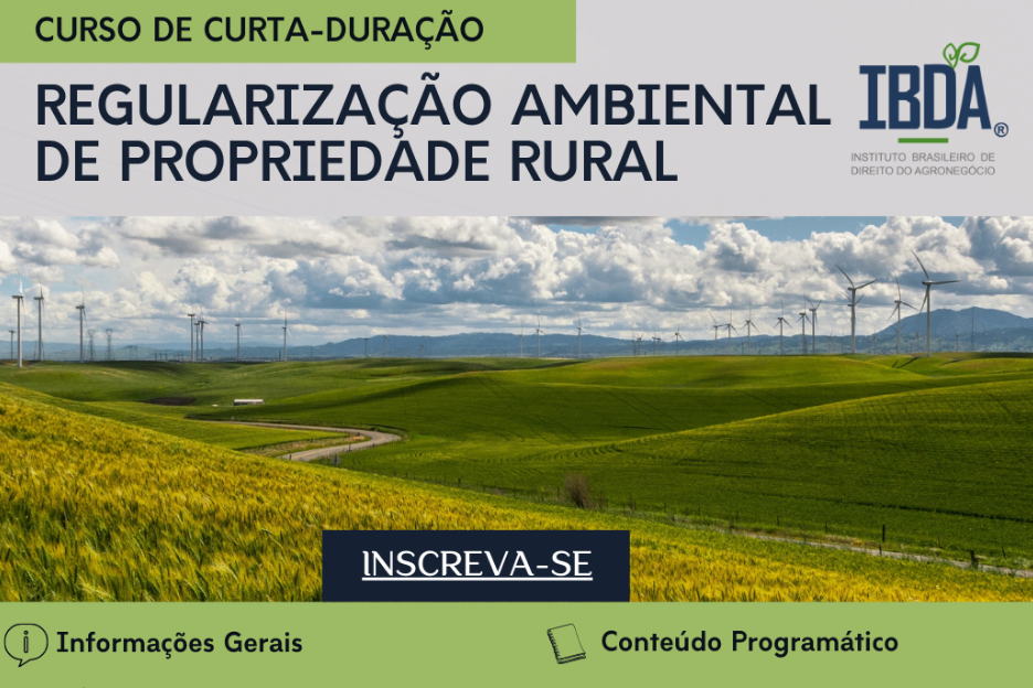 Curso de curta duração: Regularização Ambiental de propriedade Rural