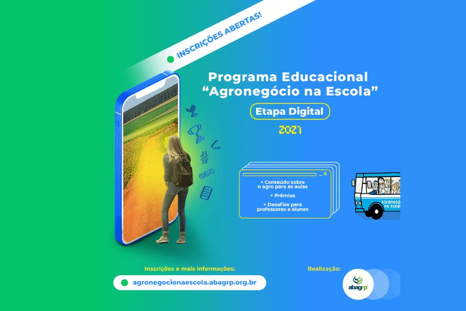 """Abertas as inscrições para o Programa Educacional """"Agronegócio na Escola"""" – Etapa Digital 2021"""
